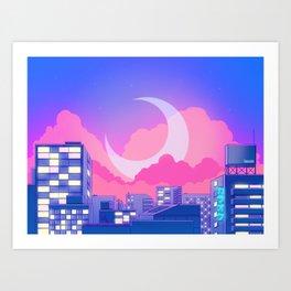 Dreamy Moon Nights Art Print