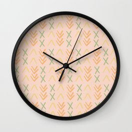 Xs and Arrows Wall Clock