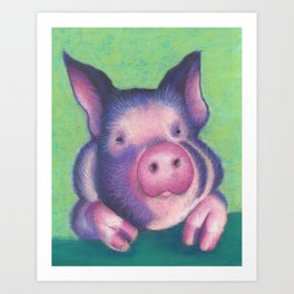 Harold the pig Art Print