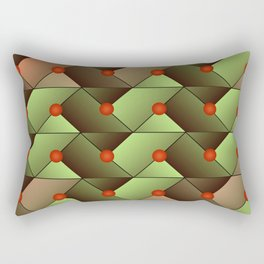 Geometric abstract Rectangular Pillow