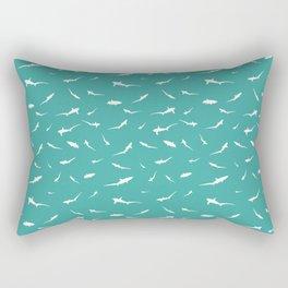 Thresher Sharks Pattern Rectangular Pillow