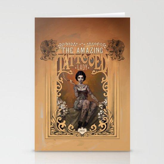 The Amazing Tattooed Lady Stationery Cards