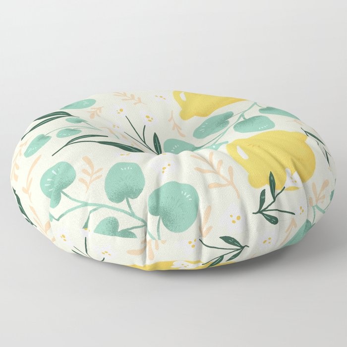 Lemon Party Floor Pillow