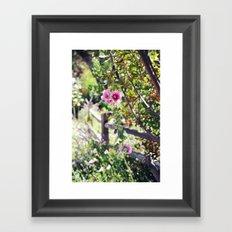 Stroll in the Garden Framed Art Print