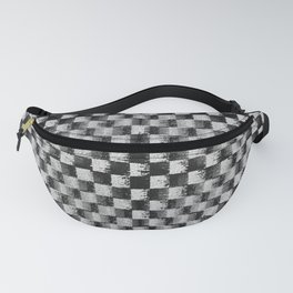 Edgy Checker (in shades of grey) Fanny Pack