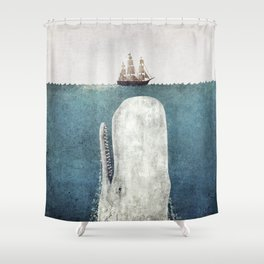 The White Whale Shower Curtain