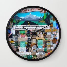 Watson_Lake Sign-Post Forest, YT, Canada Wall Clock