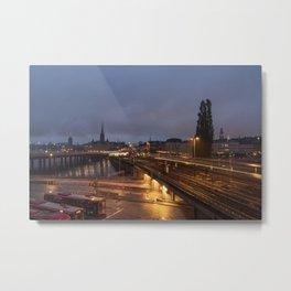 Stockholm Nights Metal Print