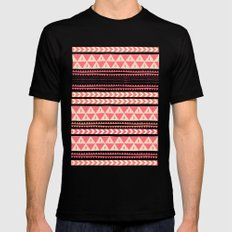 Winter Stripe II Mens Fitted Tee MEDIUM Black