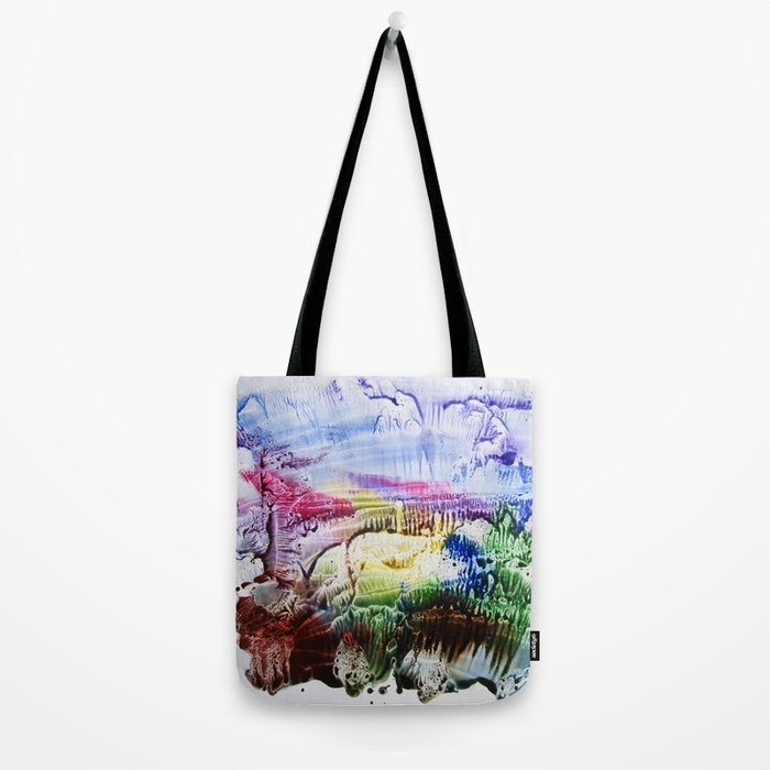 abstract composition of red and blue colours . artwork Tote Bag