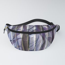 Purple Bamboo Fanny Pack