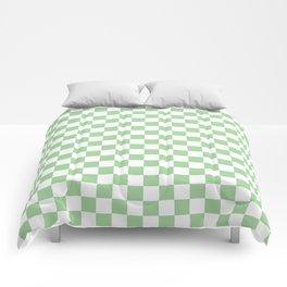 Mint Checkerboard Pattern Comforters