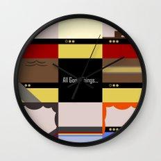 All Good Things - square Minimalist Star Trek TNG The Next Generation 1701 D  startrek  Trektangles Wall Clock
