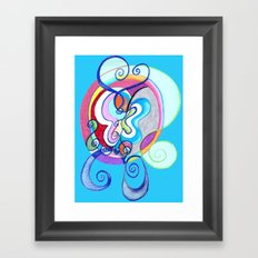 Free as a Butterfly Framed Art Print