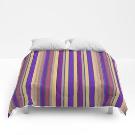 awning stripe Comforters