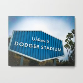 Welcome to Dodger Stadium | Los Angeles California Nostalgic Iconic Sign Art Print Tapestry Metal Print