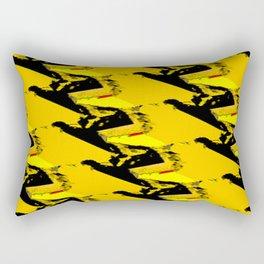 URBAN STREET CAMO YELLOW AND BLACK OLIVE GREEN DESIGN Rectangular Pillow