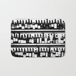Wine Bottles in Black And White #society6 #decor Bath Mat