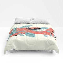 Blue Berry Bird Comforters
