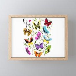 Be free Framed Mini Art Print