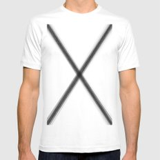 X marks the spot MEDIUM White Mens Fitted Tee