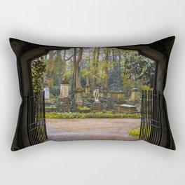 Cemetery gates Rectangular Pillow