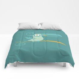 Mid Century Modern Tropical Toucan Tiki Bird Comforters