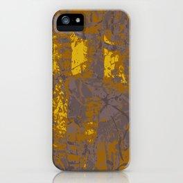 Kassandra, abstract painting yellow on kaki iPhone Case