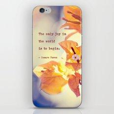 Begin with Joy iPhone & iPod Skin