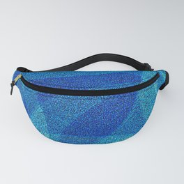 Blue Abstract Fanny Pack
