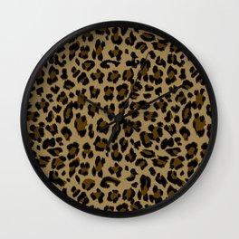 Leopard Print Pattern Wall Clock