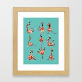 Flamingo Yoga Framed Art Print