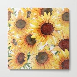 Sunflowers Bloom  Metal Print