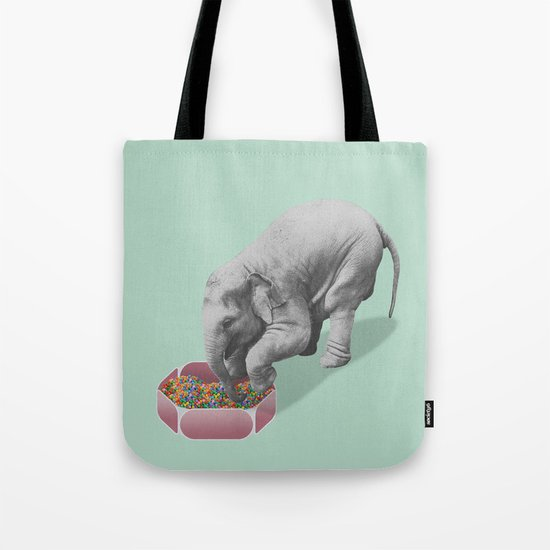 Gourmand elephant (animals collection) Tote Bag