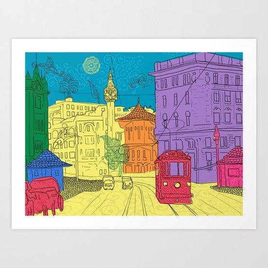old city Art Print