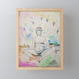 Pregnancy Serenity Framed Mini Art Print