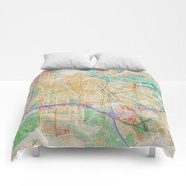 Amsterdam in Watercolor Comforters
