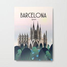 Barcelona la sagrada familia Metal Print