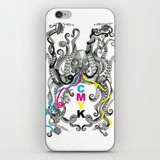 CMYK tattoing octopus iPhone & iPod Skin