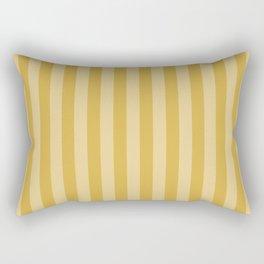 Large Two Tone Spicy Mustard Yellow Cabana Tent Stripe Rectangular Pillow