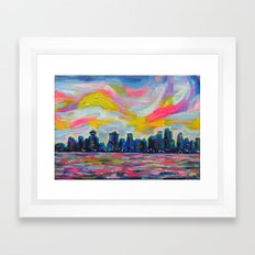 An Evening In Vancouver  Framed Art Print