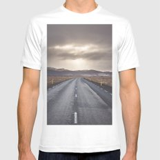 Route 1 Mens Fitted Tee MEDIUM White