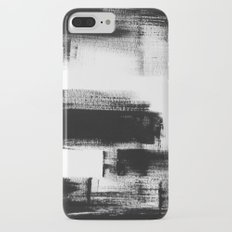 No. 85 Modern abstract black and white painting iPhone 7 Plus Slim Case
