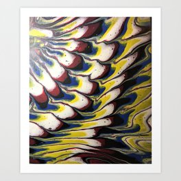 Melted feathers abstract acrylic Art Print