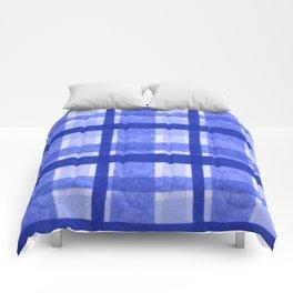 Tissue Paper Plaid - Blue Comforters