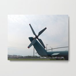 Helicopter engine propellers Metal Print