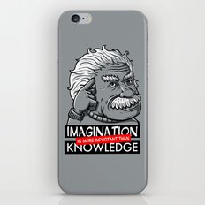 Imagination is more important than knowledge iPhone & iPod Skin