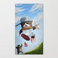 Cat knight Canvas Print