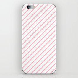 Diagonal Lines (Pink/White) iPhone Skin
