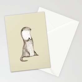 Sitting Otter Stationery Cards